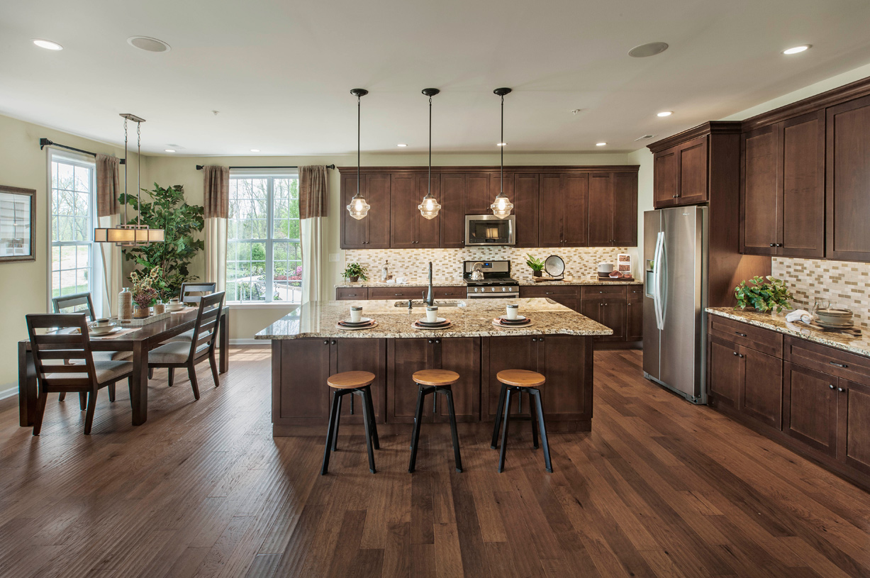 Spacious kitchens with casual dining area