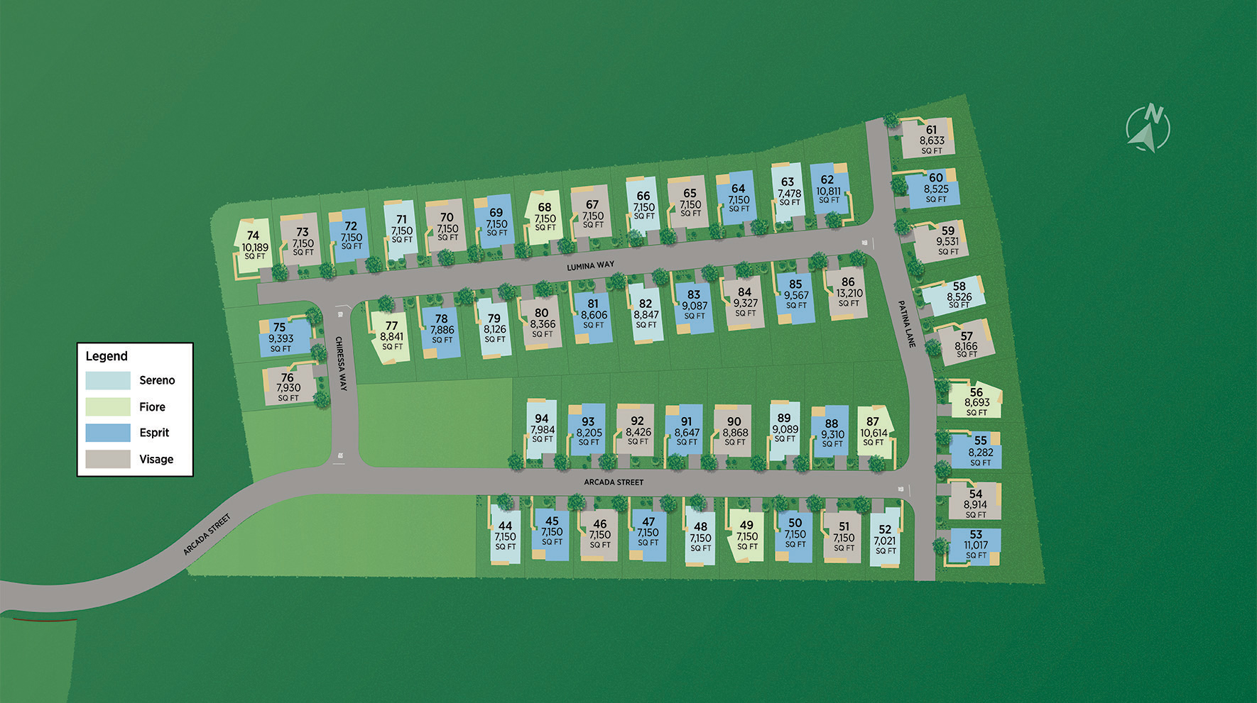 Toll Brothers at Escena Site Plan I