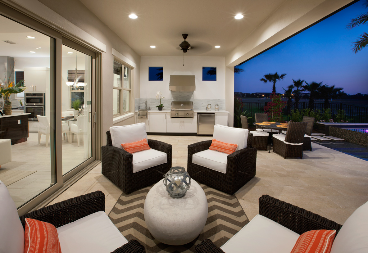 Expansive lanais with well-appointed outdoor kitchens