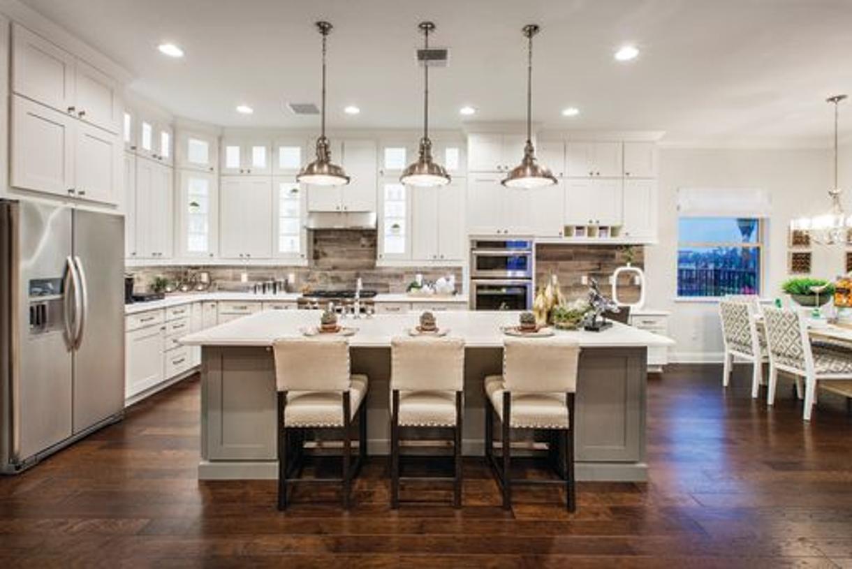 Gourmet kitchen with KitchenAid appliances (Model Photo)