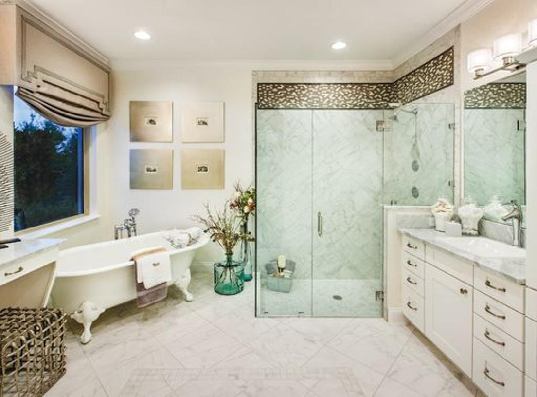 Beautiful primary bath (Model photo)