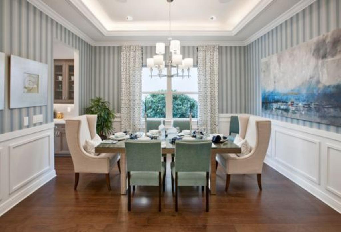 Formal dining room - photo of model with optional finishes