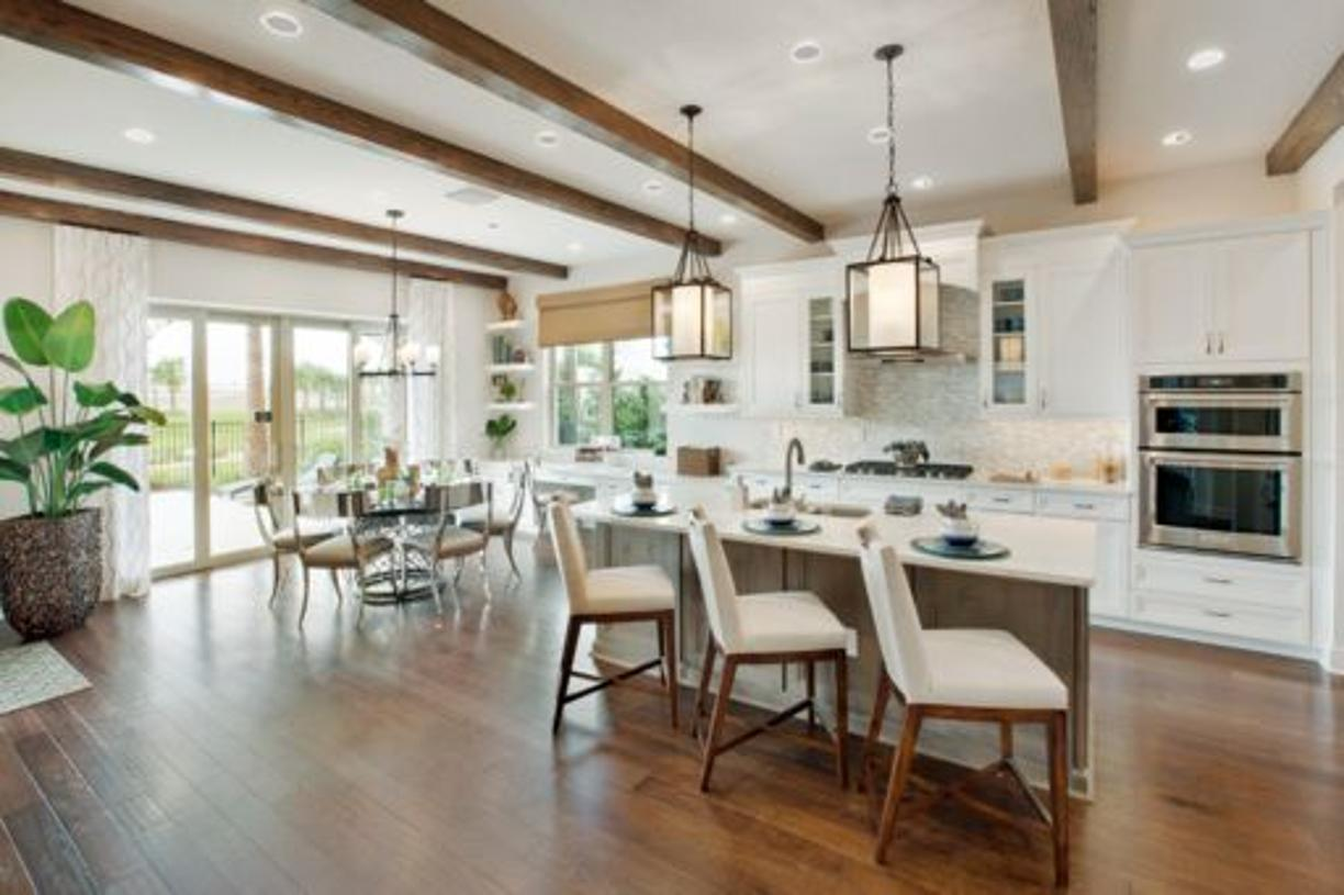 Gourmet kitchen and casual dining - model photo with optional finishes
