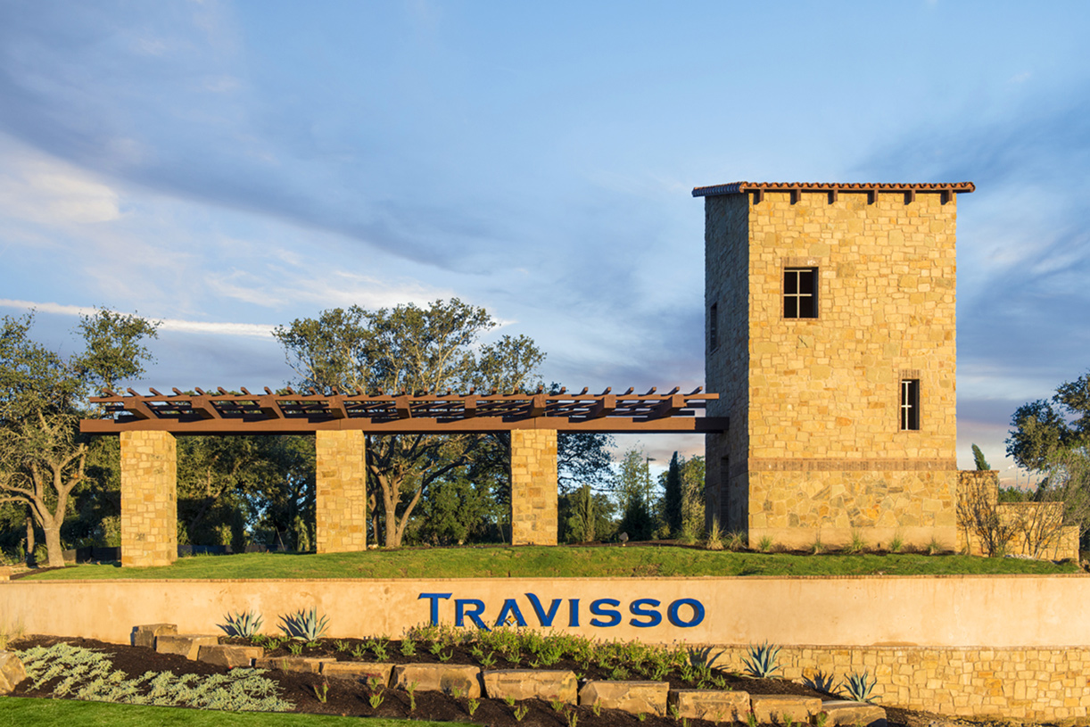 Welcome Travisso community entrance