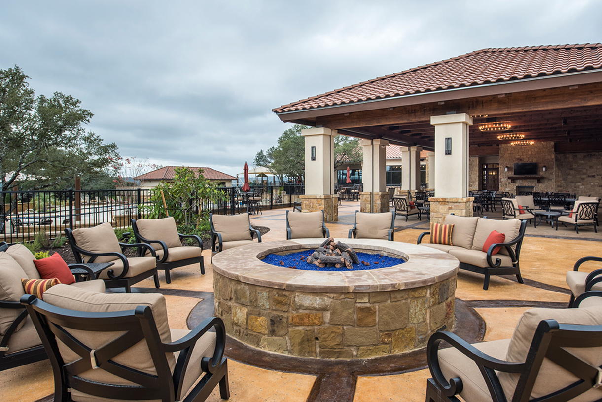 Relax and meet your neighbors at The Palazzo amenity center