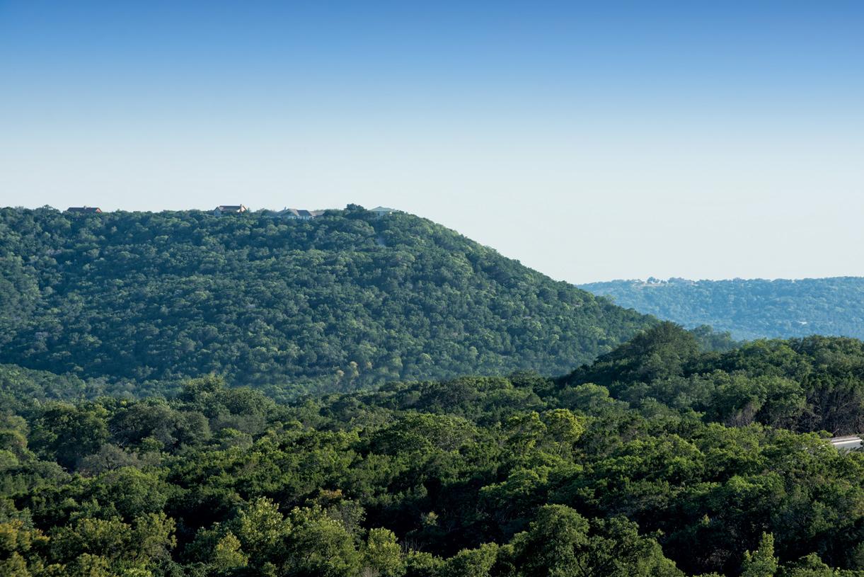 Panoramic Hill Country views surround Travisso