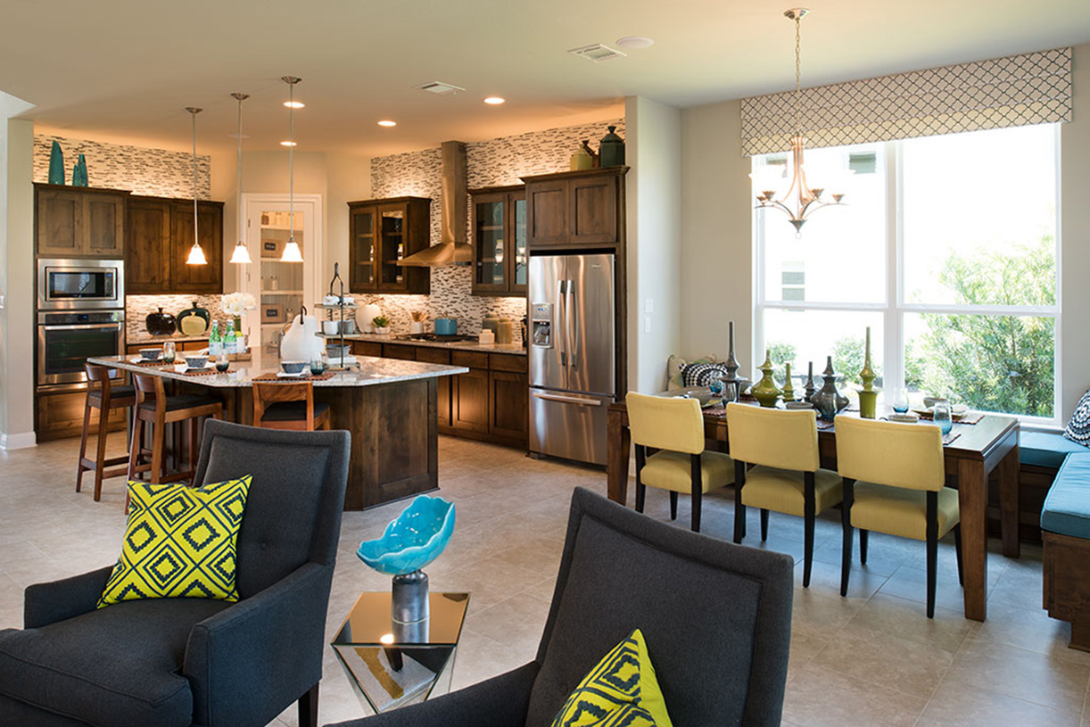 Open Yorkshire kitchen and casual dining area