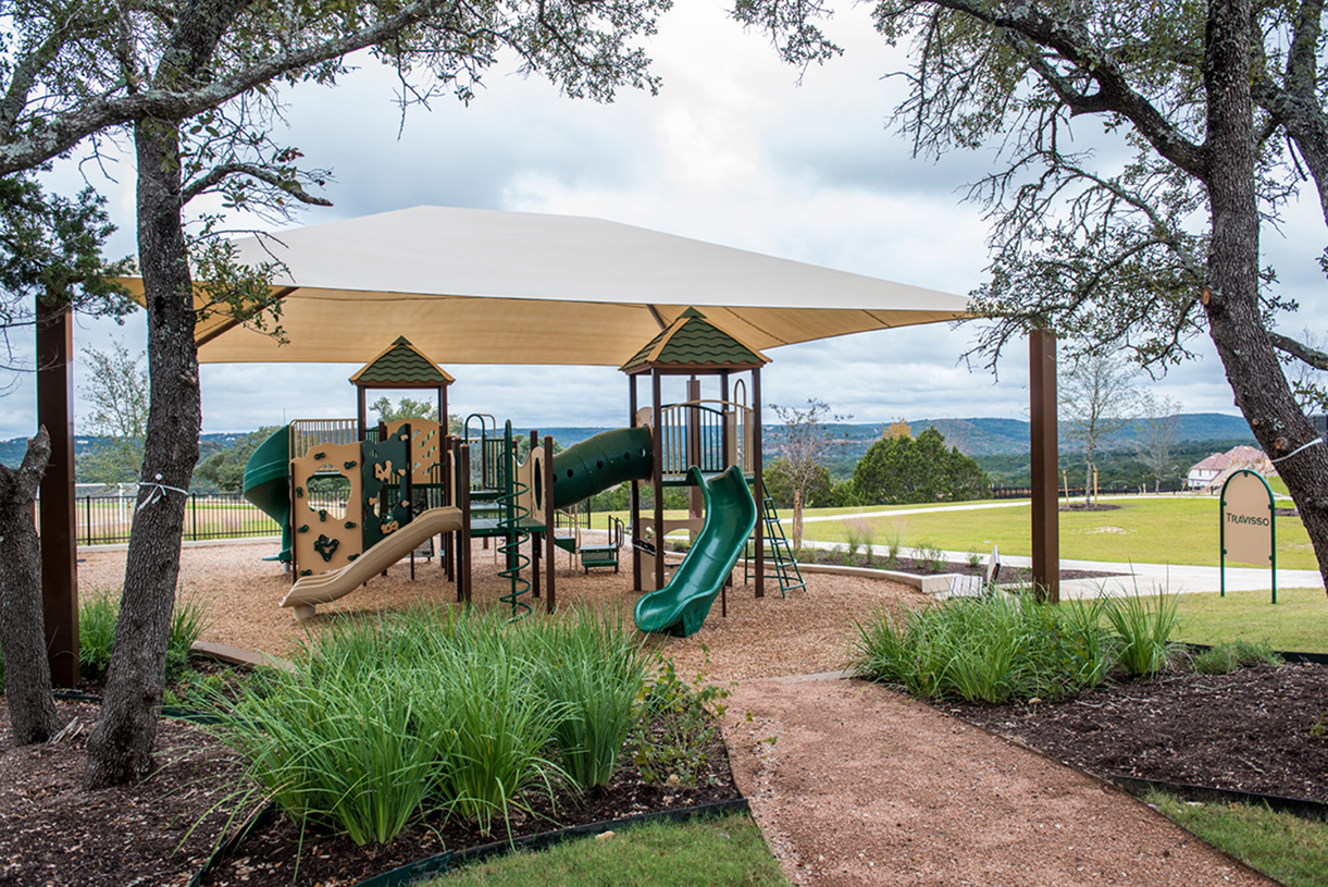 Children's playground with shade and open space