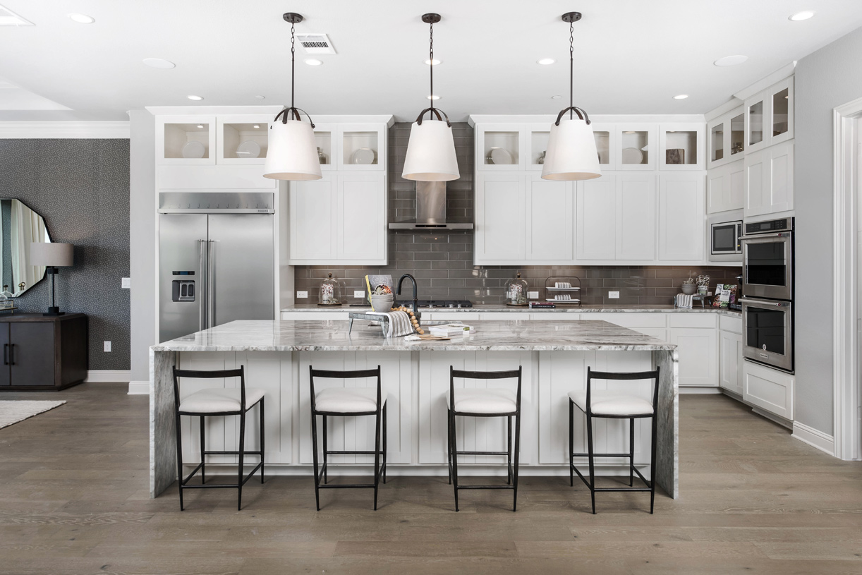 Vanguard kitchen with expansive center island