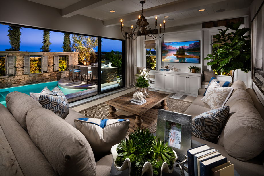 the terramar home design offers many indooroutdoor living spaces for true california living - Ca Home Design