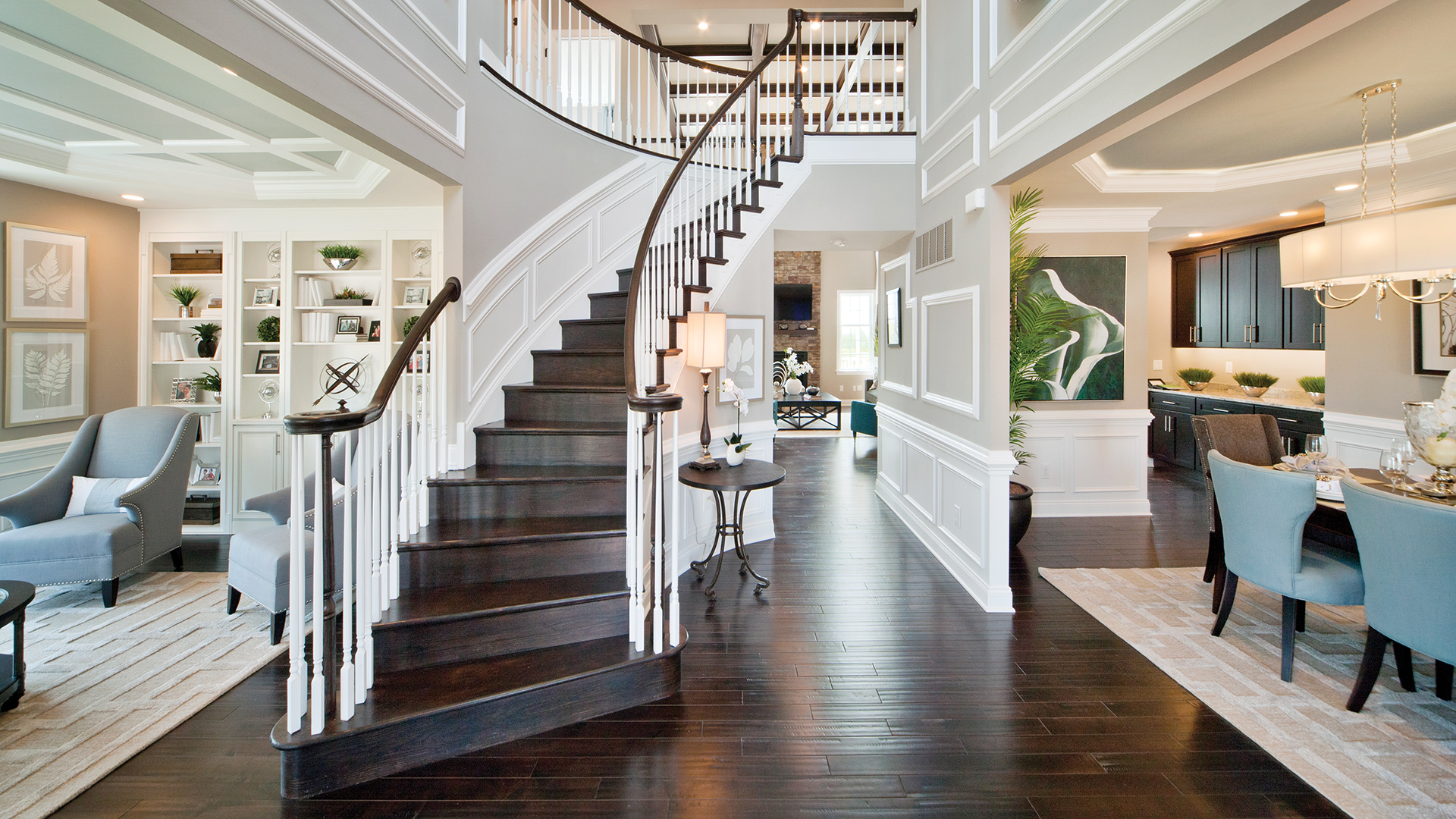 Dramatic two-story entry foyers