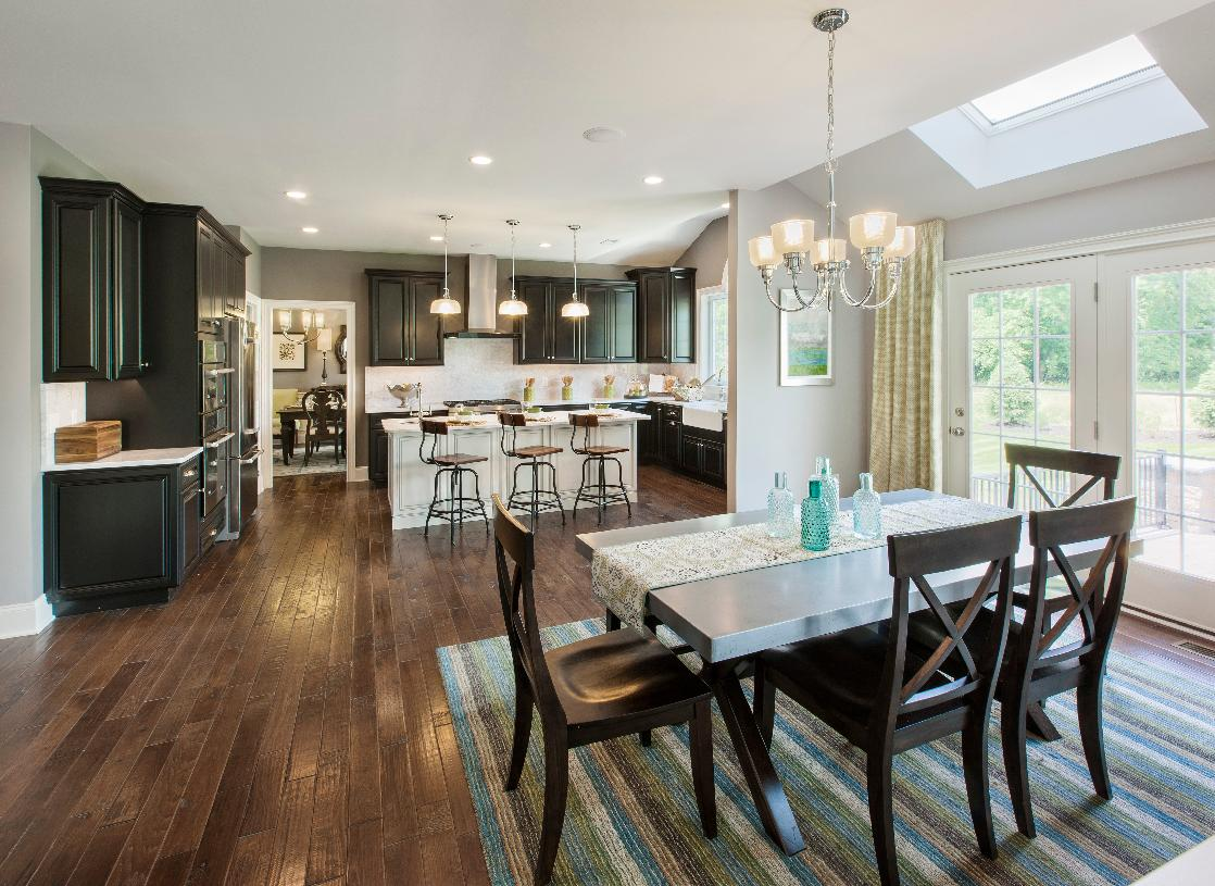 Gorgeous island kitchen open to casual dining area