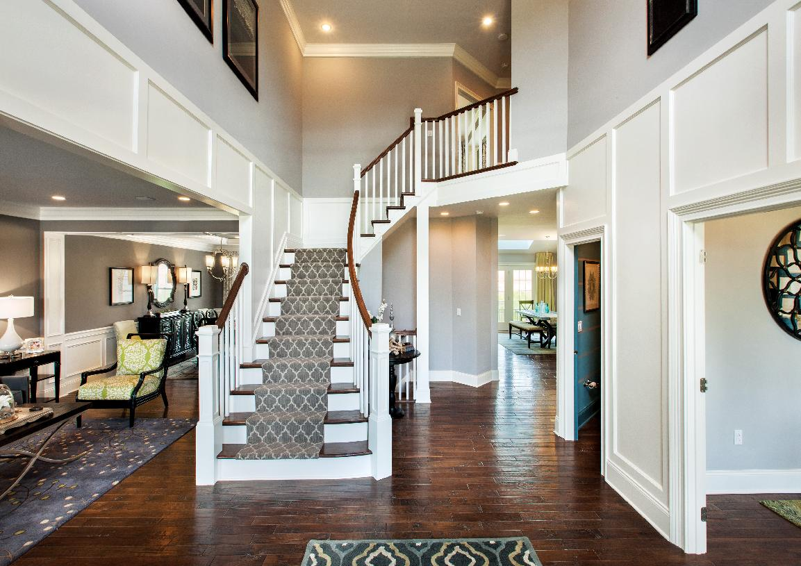 Dramatic two-story entry foyer