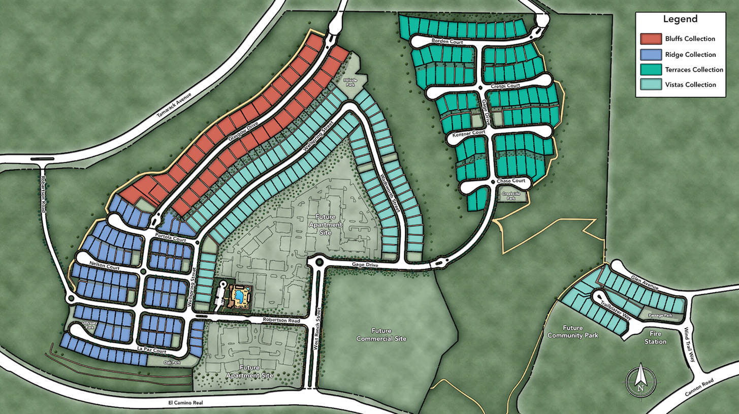 Toll Brothers at Robertson Ranch - The Vistas Overall Site Plan