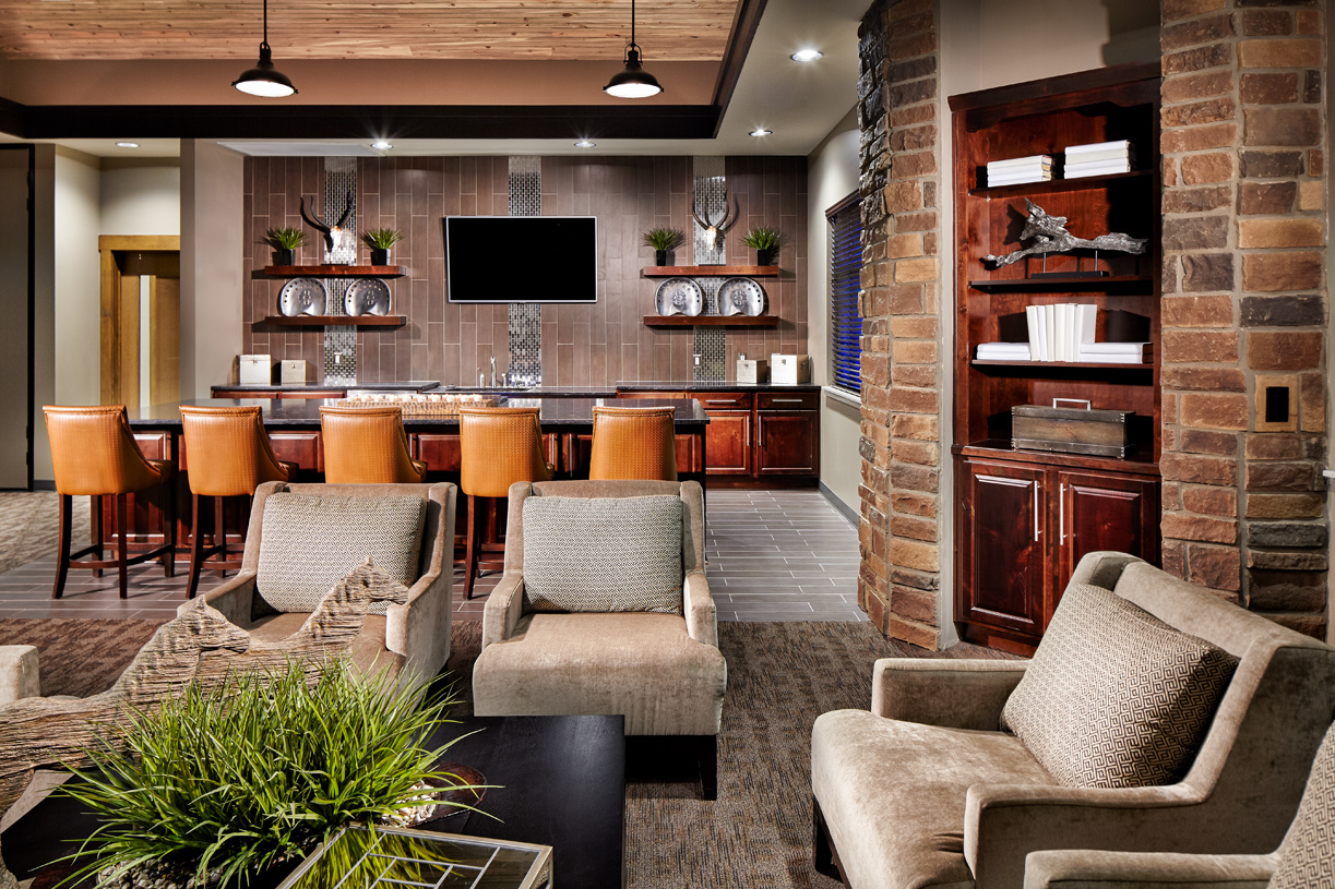 Clubhouse entertaining space