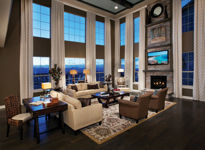 Fort Collins CO New Homes For Sale The Estates At Kechter Farm - Two story family room decorating ideas