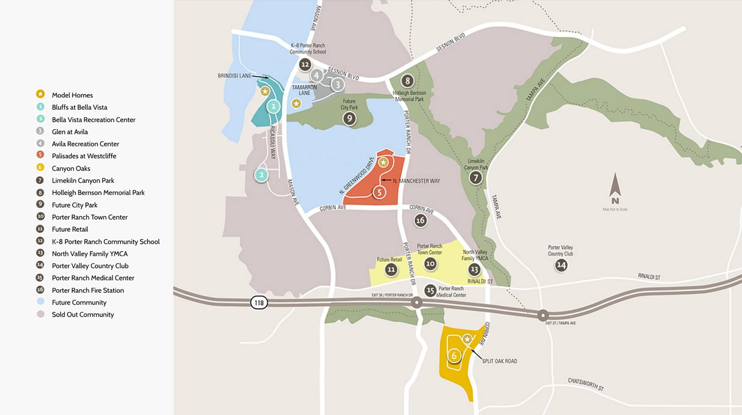 Porter Ranch Ca New Homes For Sale Avila At Porter Ranch Glen Collection Site Plan