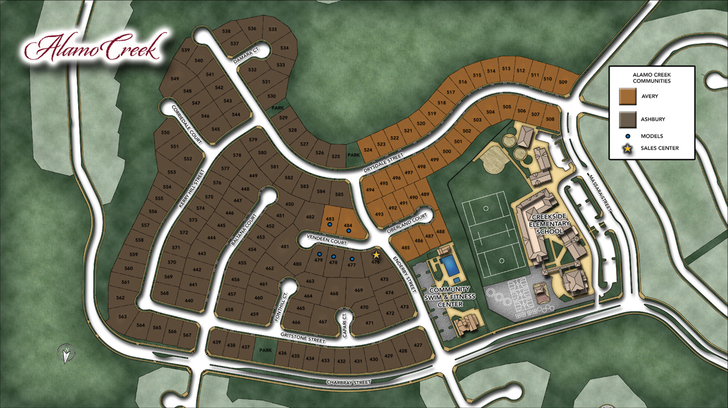 Ashbury at Alamo Creek Overall Site Plan