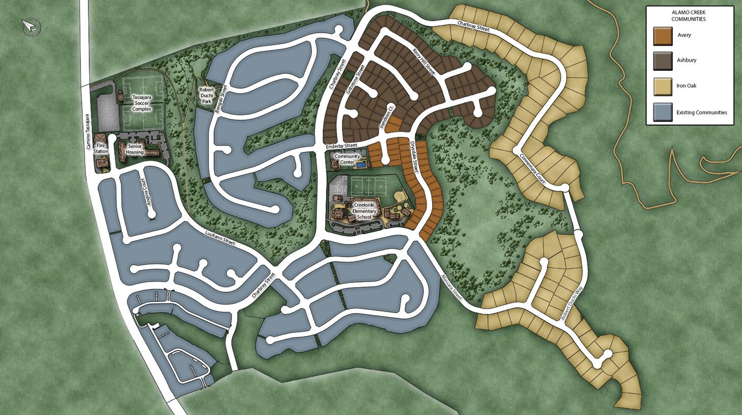 Iron Oak at Alamo Creek Master Plan Map
