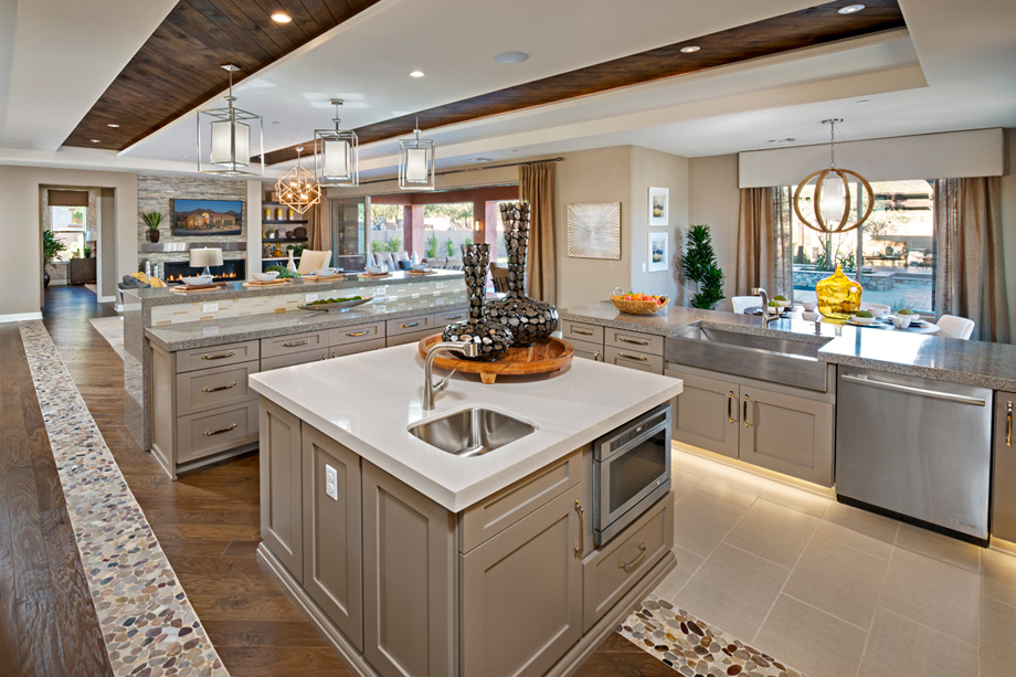 Spectacular kitchen with options galore available for