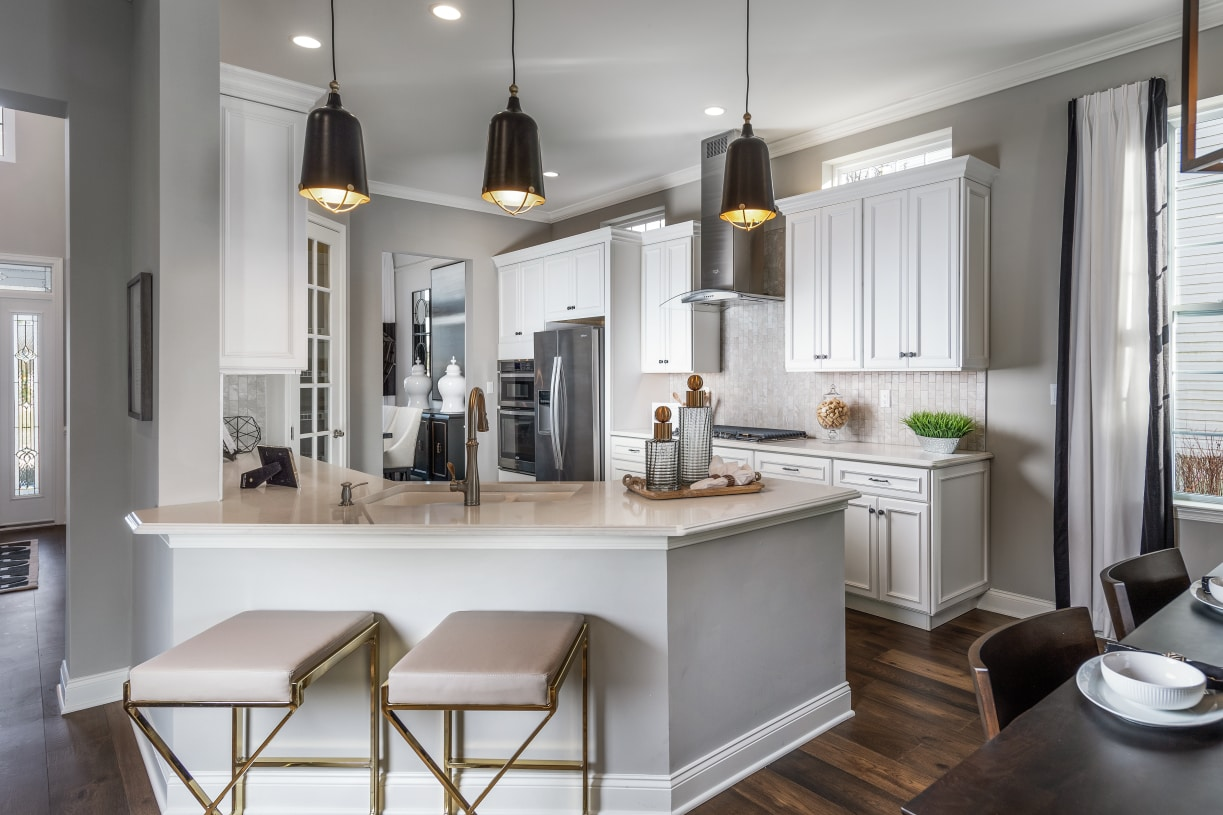 Open floor plans with stunning kitchens at the heart of the home