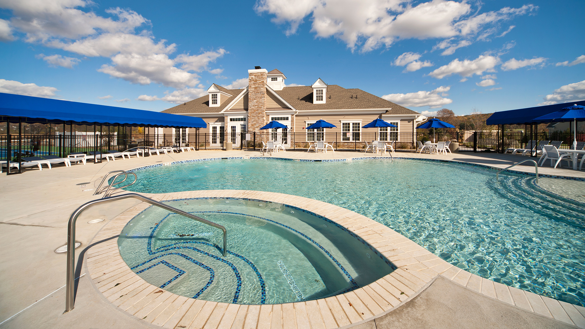 Take a peaceful swim in your new outdoor heated pool