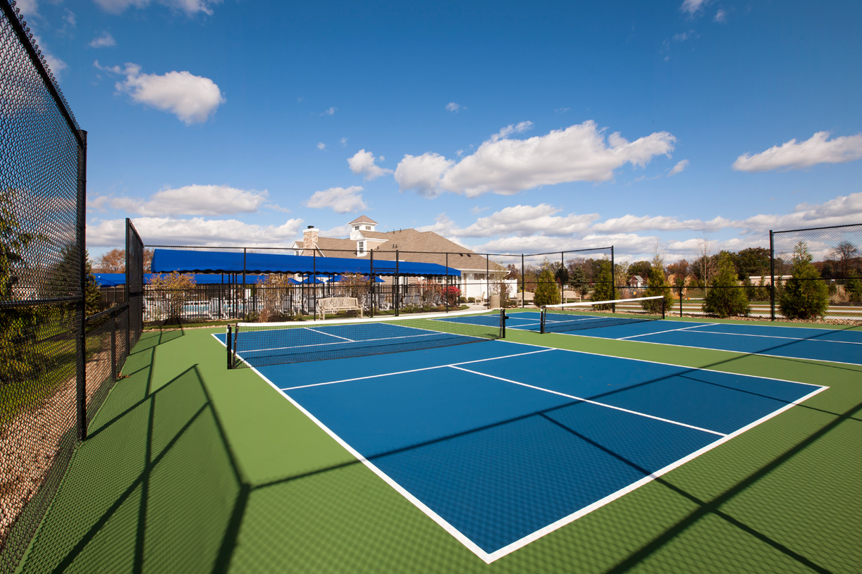 Challenge your neighbors to a tennis match