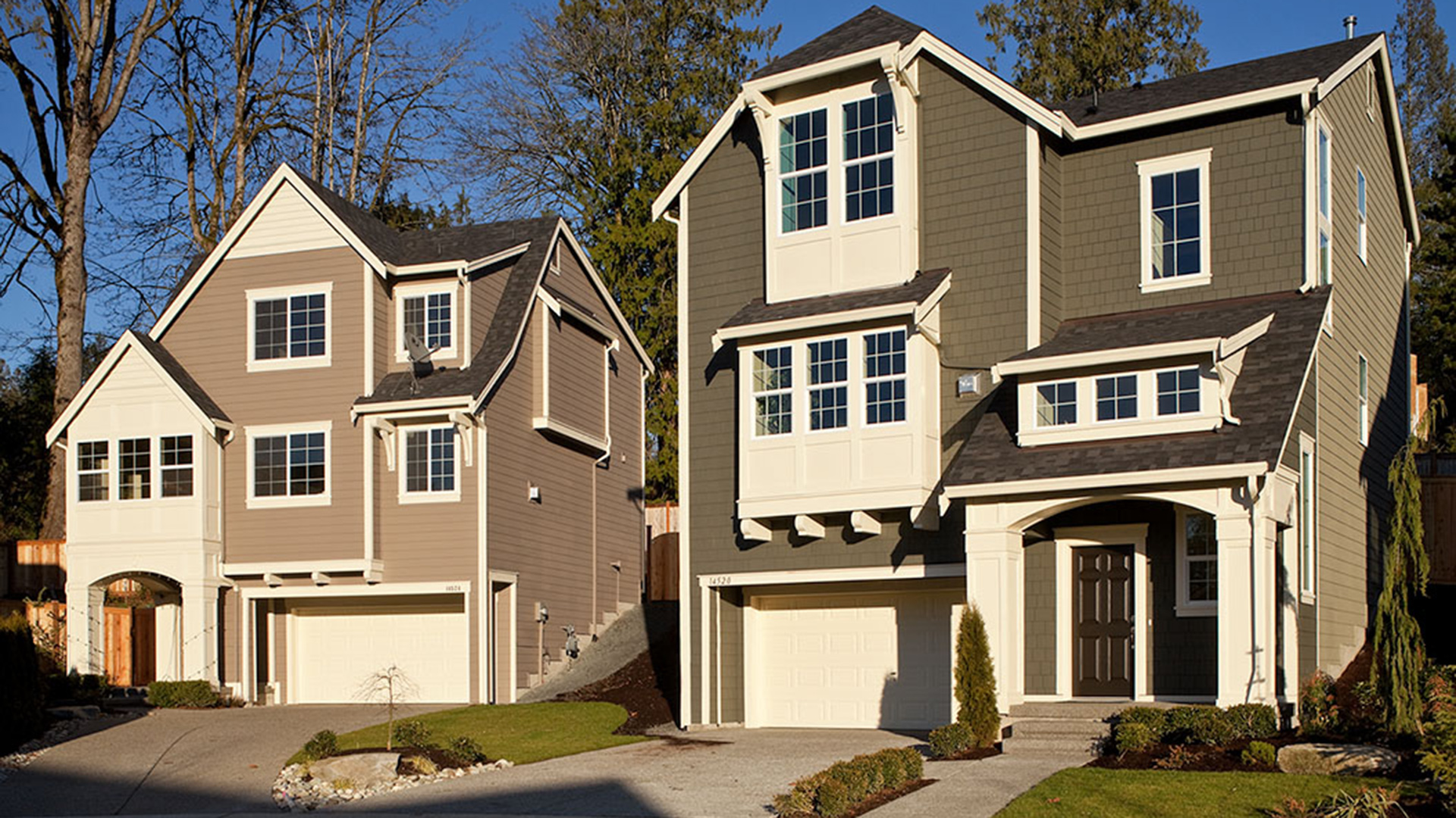 Bothell wa new homes for sale timber creek the bungalows for Pictures of three story houses