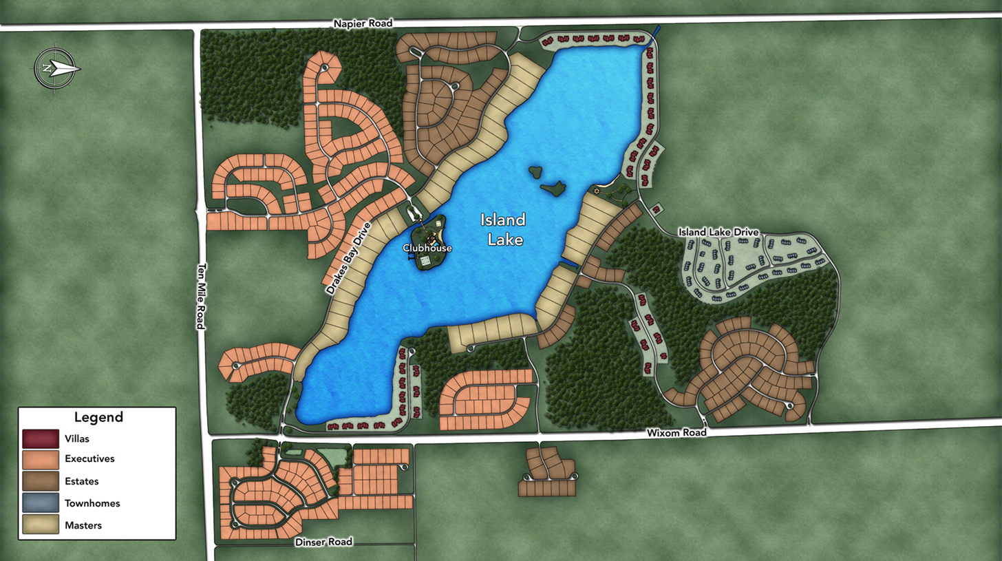 The Woodlands at Island Lake of Novi Overall Site Plan