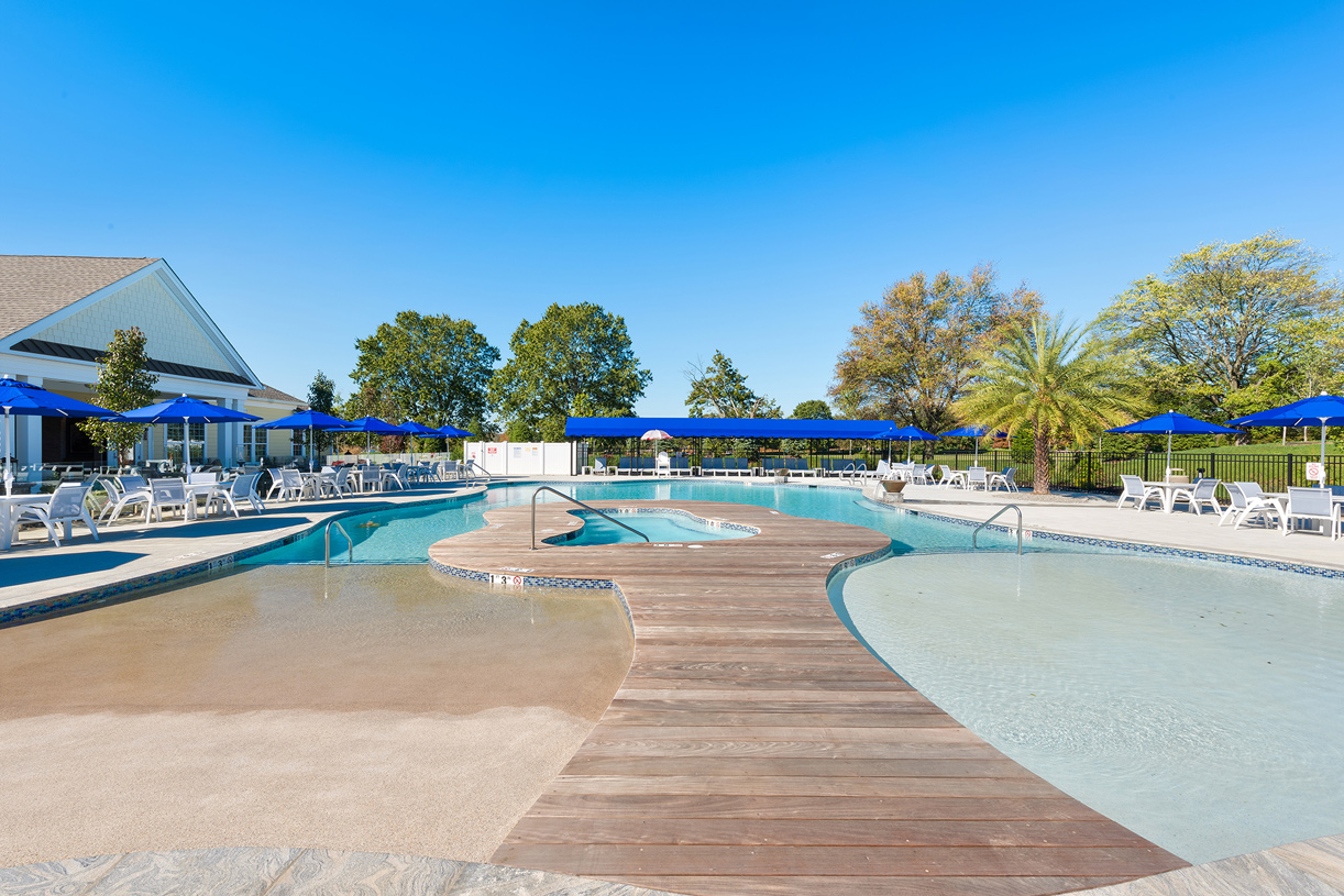 Your heated zero-entry outdoor pool at the Regency Clubhouse