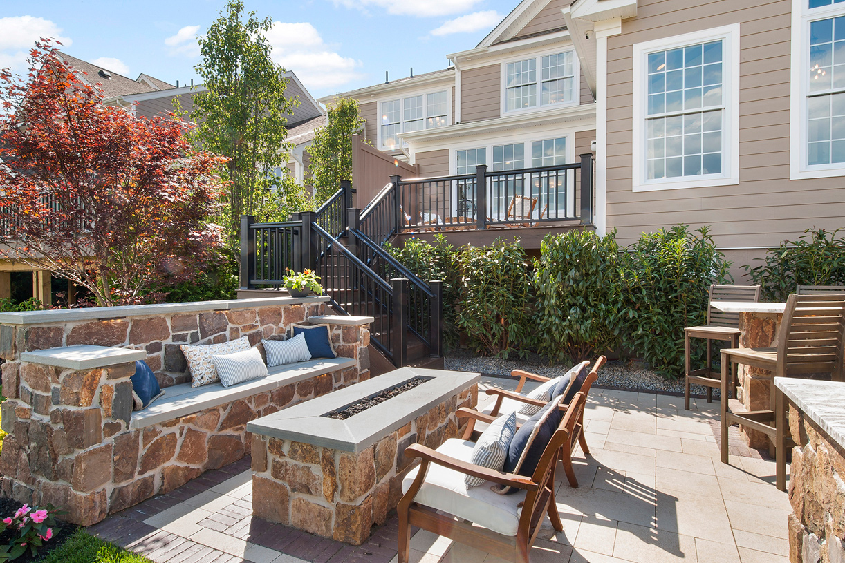 The rear deck provides ample space for outdoor entertainment