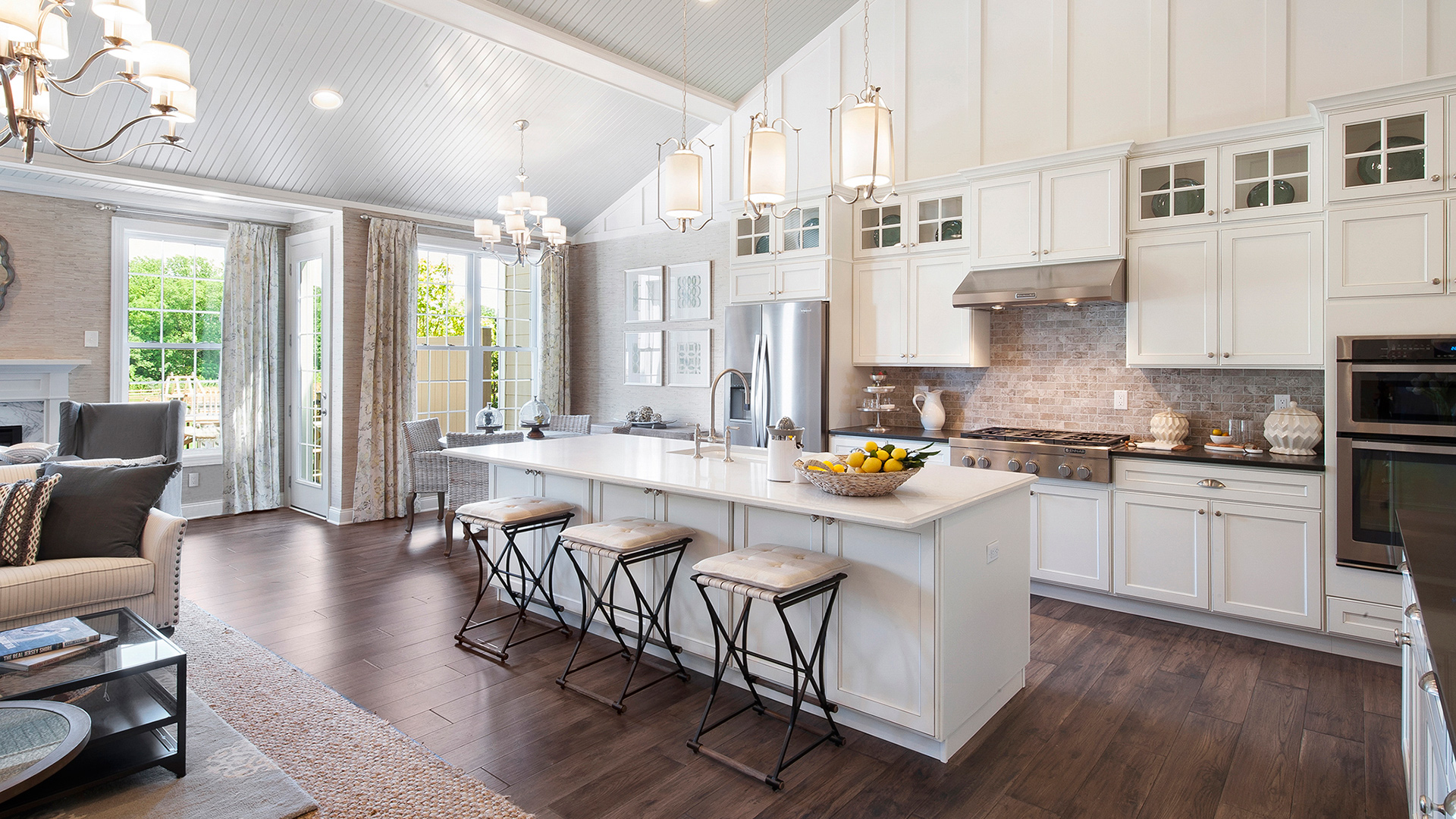 The open-concept kitchen and great room provide the ideal space for entertaining