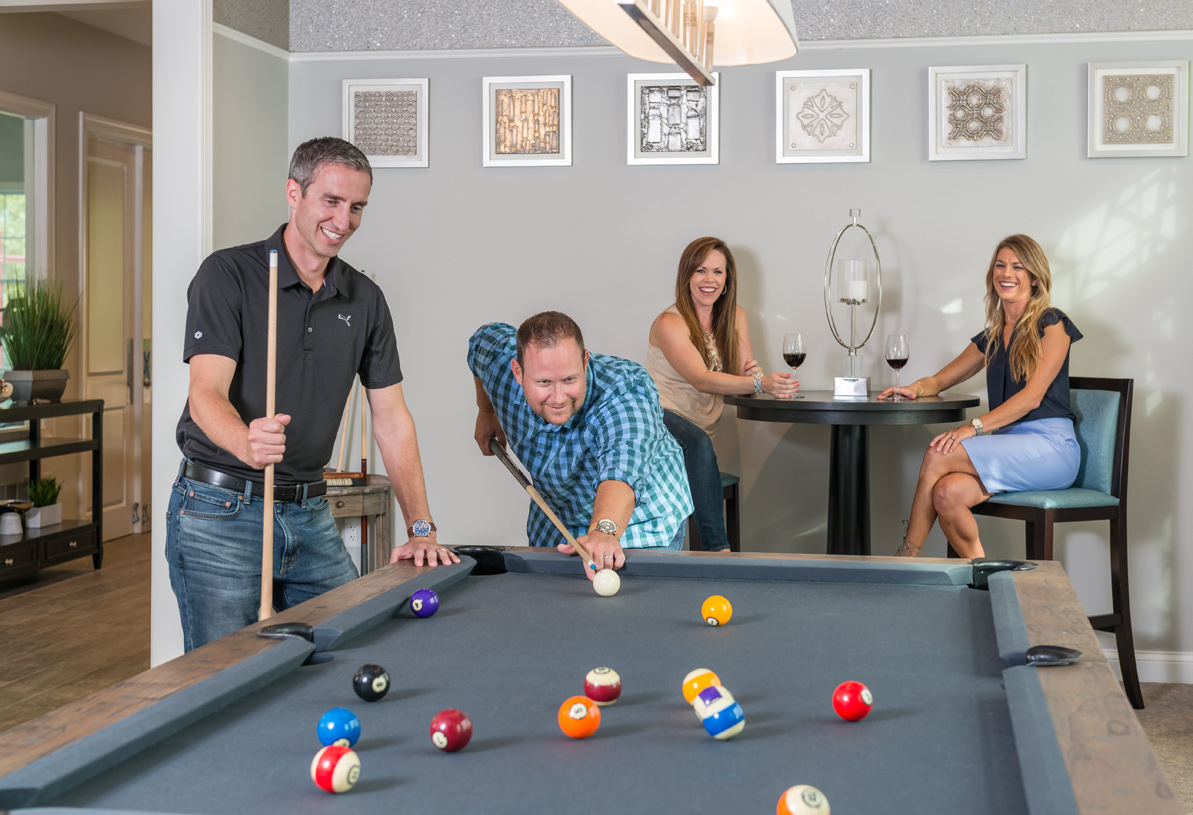 Billiards and game room at the clubhouse
