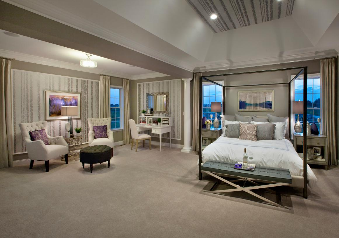 Primary bedroom suite with private retreat
