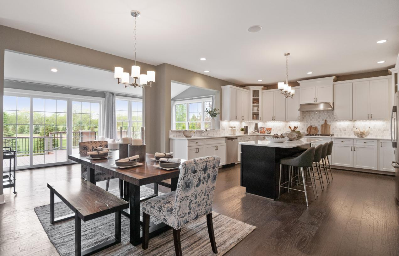 Kitchen with solarium sunroom addition