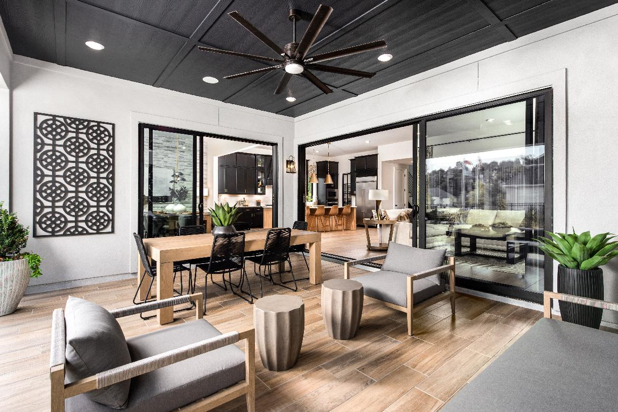 The Valen's covered patio brings the outdoors in