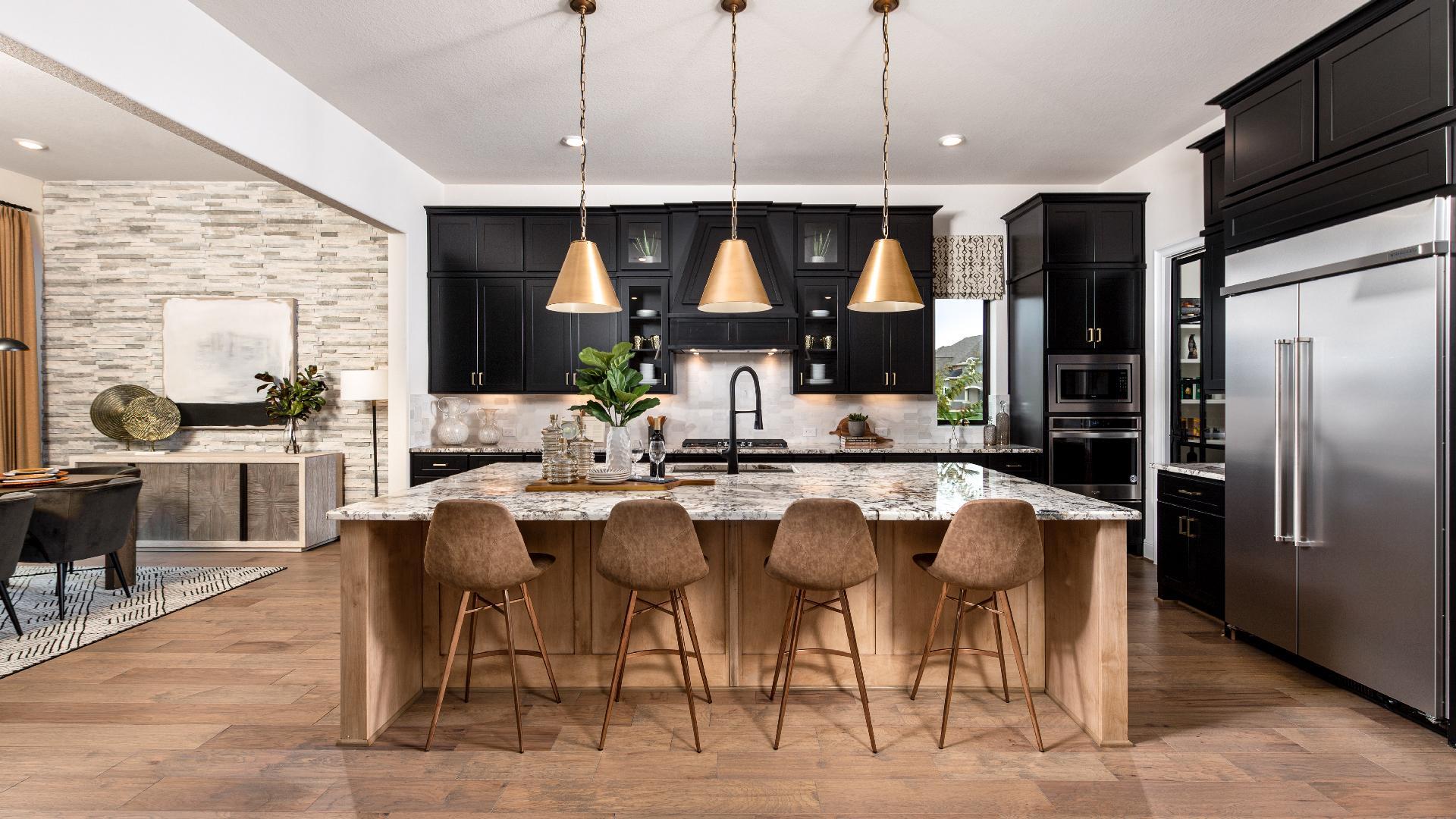 Stunning Valen kitchen layout makes for easy entertaining