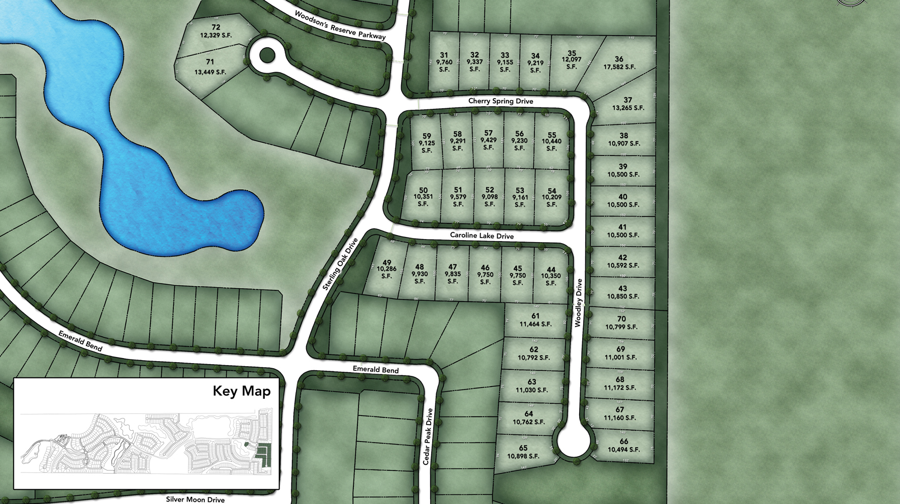 Woodson's Reserve - Executive Collection Site Plan