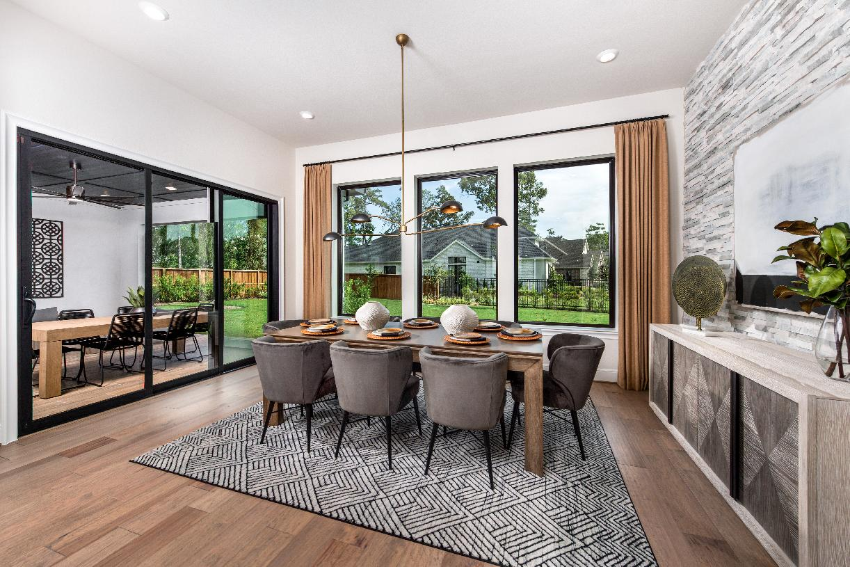 Casual dining space with beautiful natural light