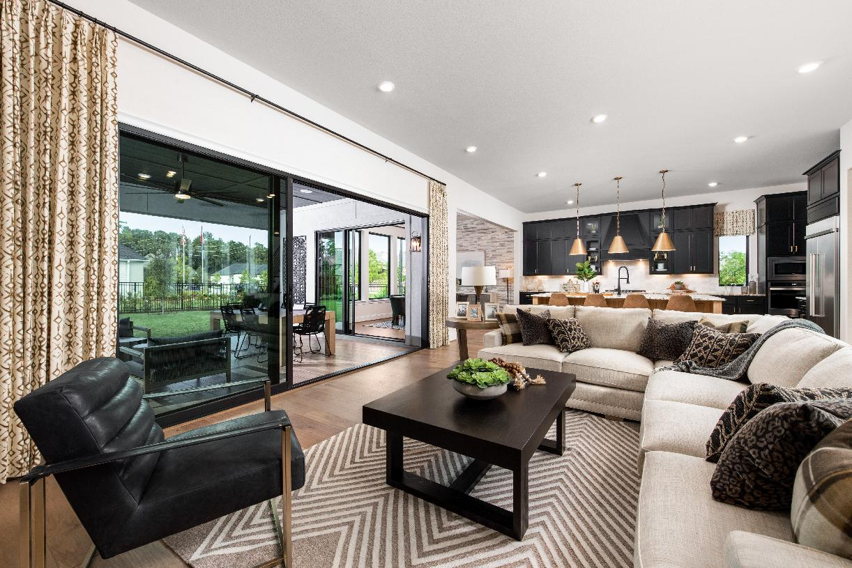 Comfortable great room is ideal for entertaining