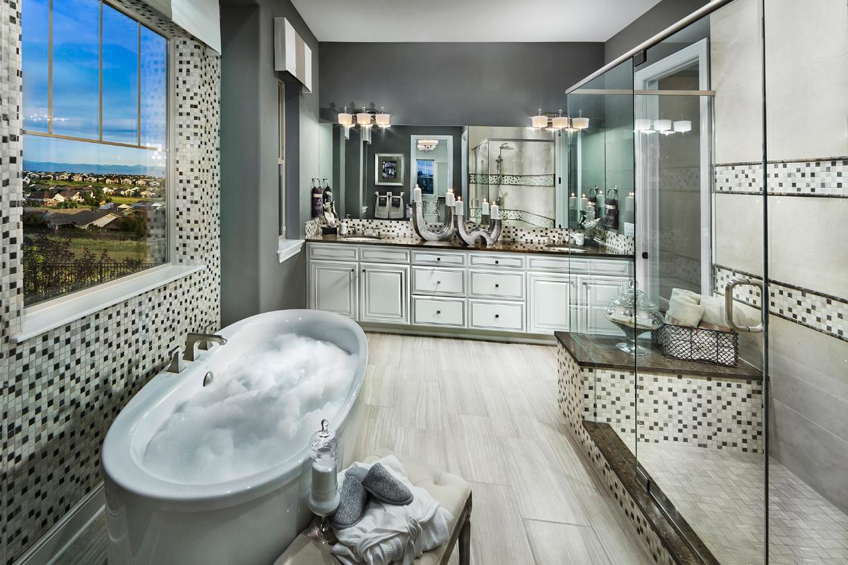 Antero five-piece primary bathroom