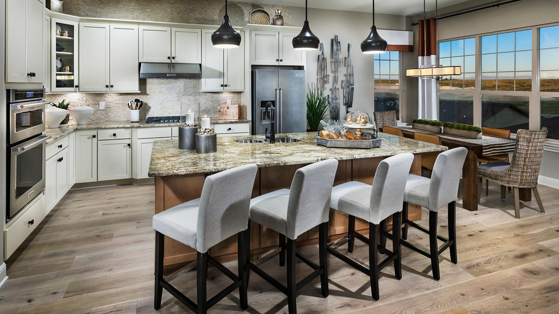 Bancroft chef's kitchen with island seating