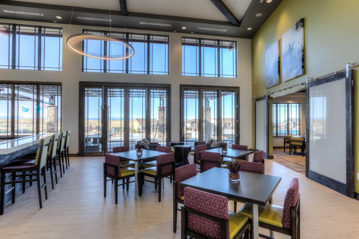 Hilltop Club sitting/dining area