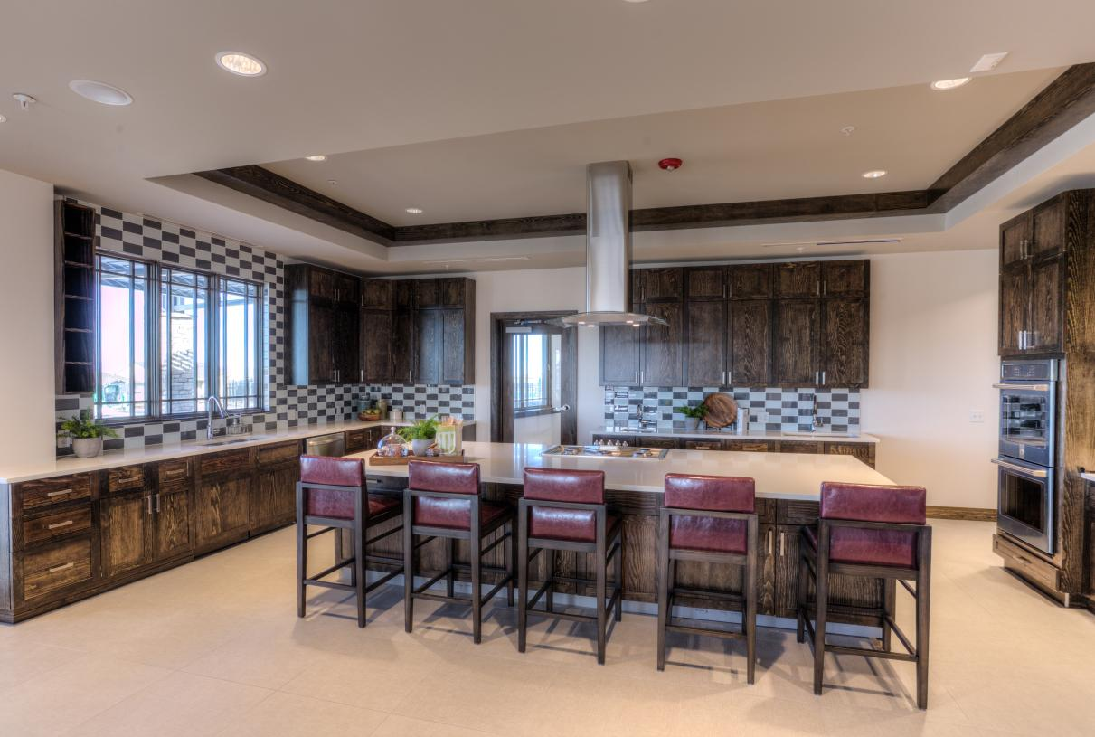 Hilltop Club demonstration kitchen great for events