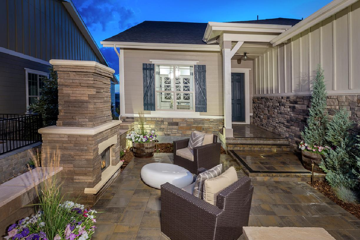 Carson front entry and patio