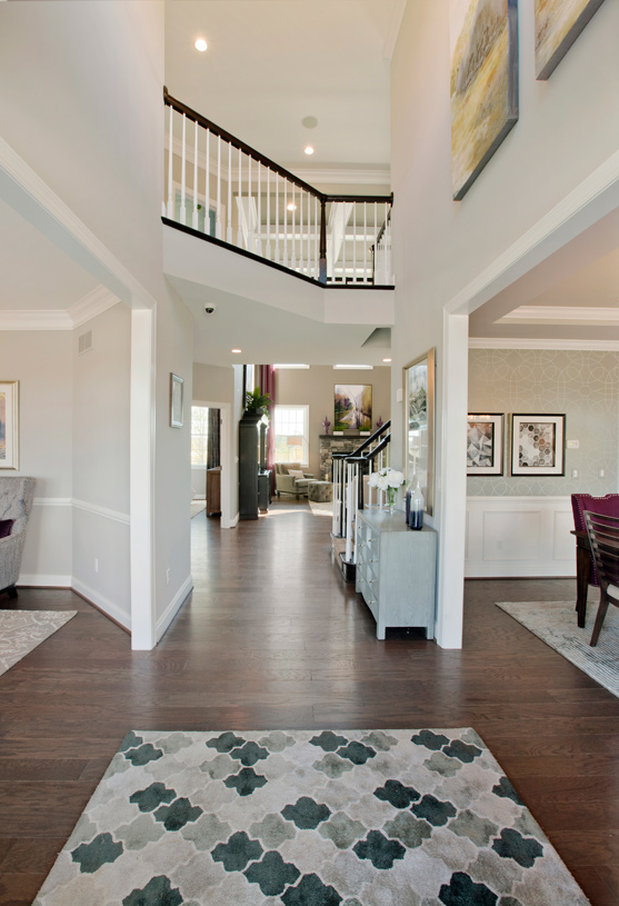 Two-story entry foyers
