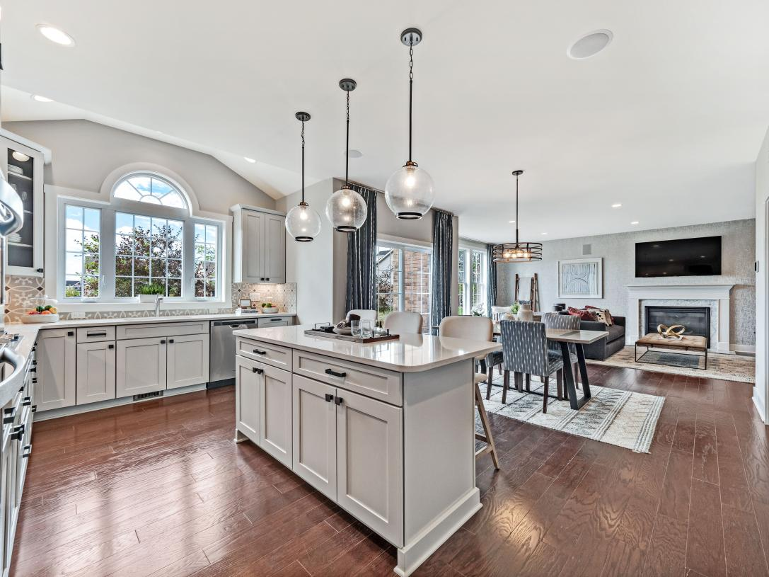 Open kitchen and great room perfect for entertaining