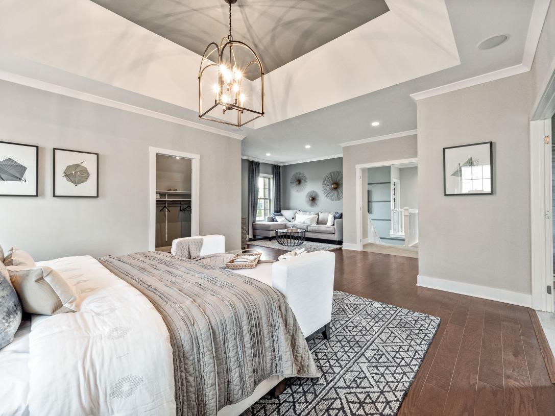 Primary bedroom suite includes private retreat
