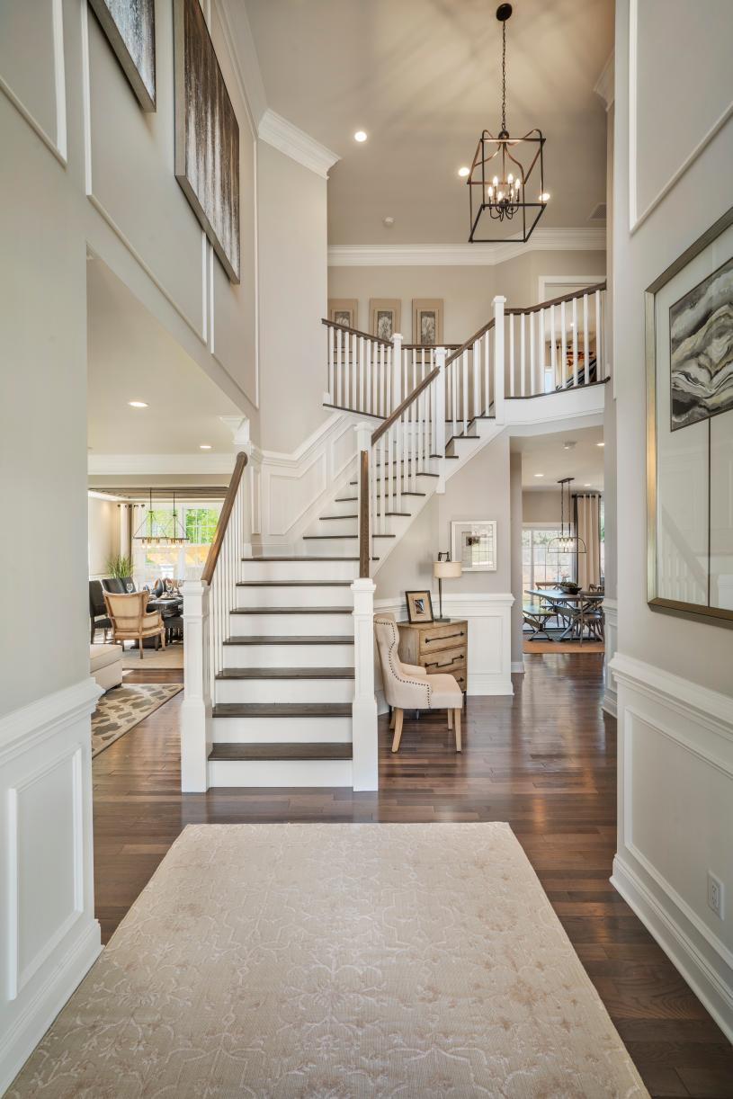 Dramatic two-story foyer