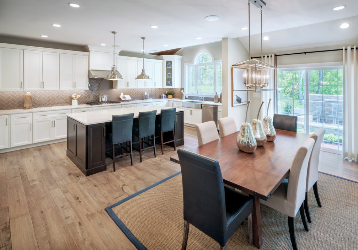 Kitchen and casual dining area, shown with Palladian kitchen option
